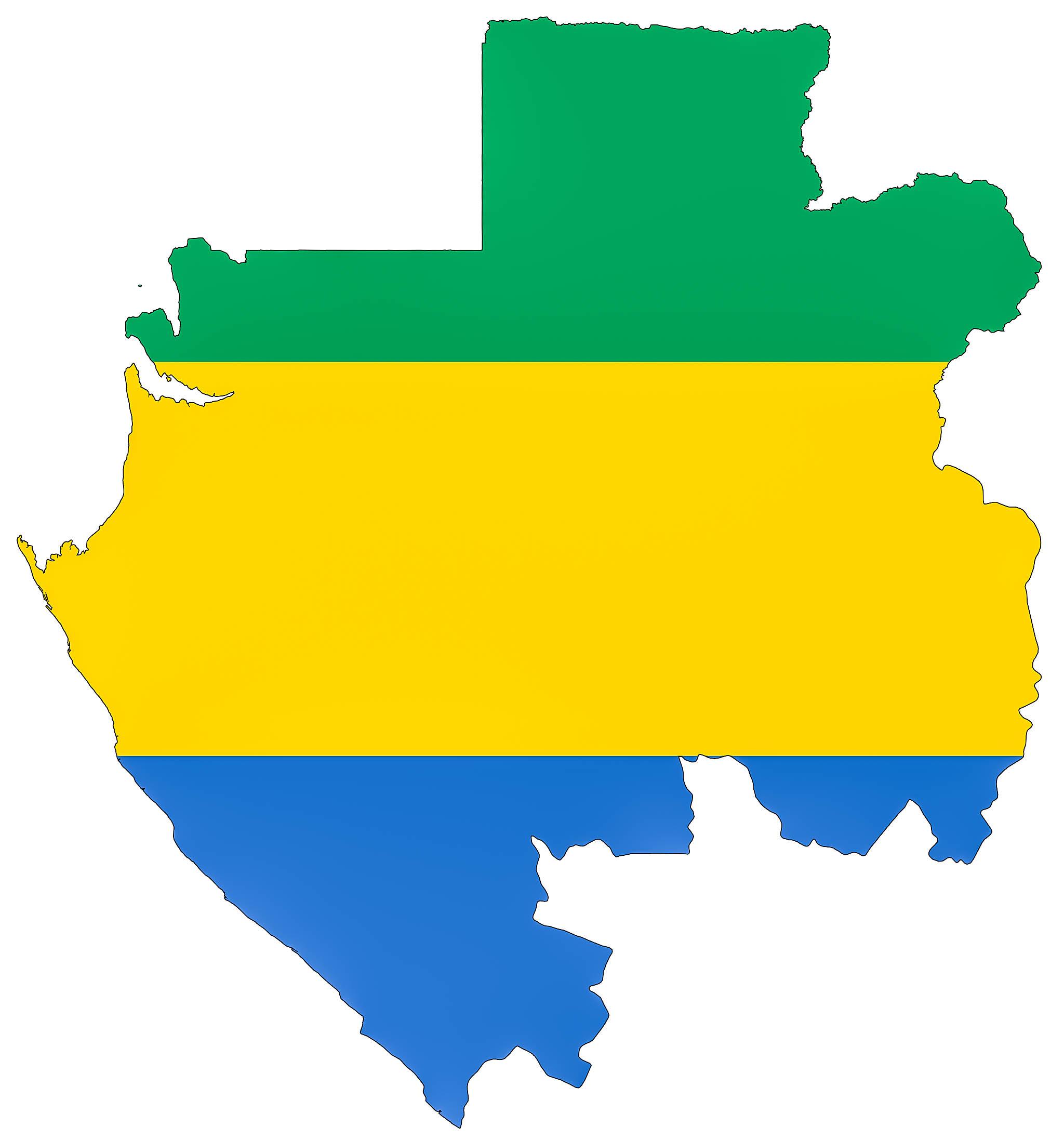 Carte du Gabon
